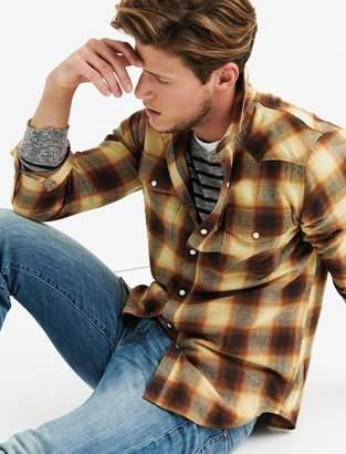 Lucky Brand Flannel Western Shirt