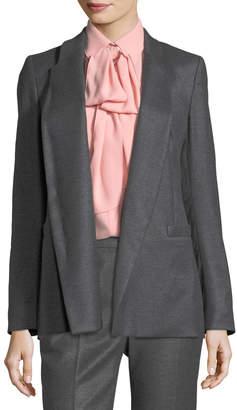 Escada Open-Front Shawl-Collar Flannel Blazer