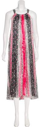 Oscar de la Renta Printed Maxi Dress