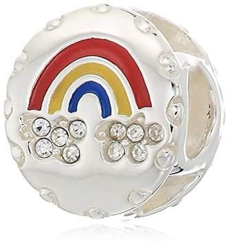 Swarovski Chamilia lucky rainbow crystal with multi-color enamel charm