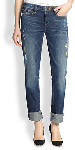 Vince Casey Cropped Straight-Leg Jeans