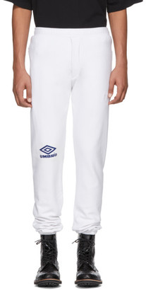 Vetements White Umbro Edition Logo Lounge Pants