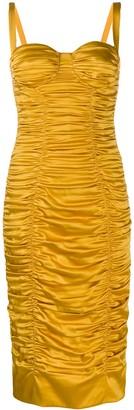 Dolce & Gabbana ruched bustier bodycon dress