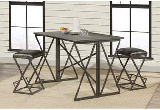 Union Rustic Osterberg 3 Piece Counter Height Breakfast Nook Dining Set