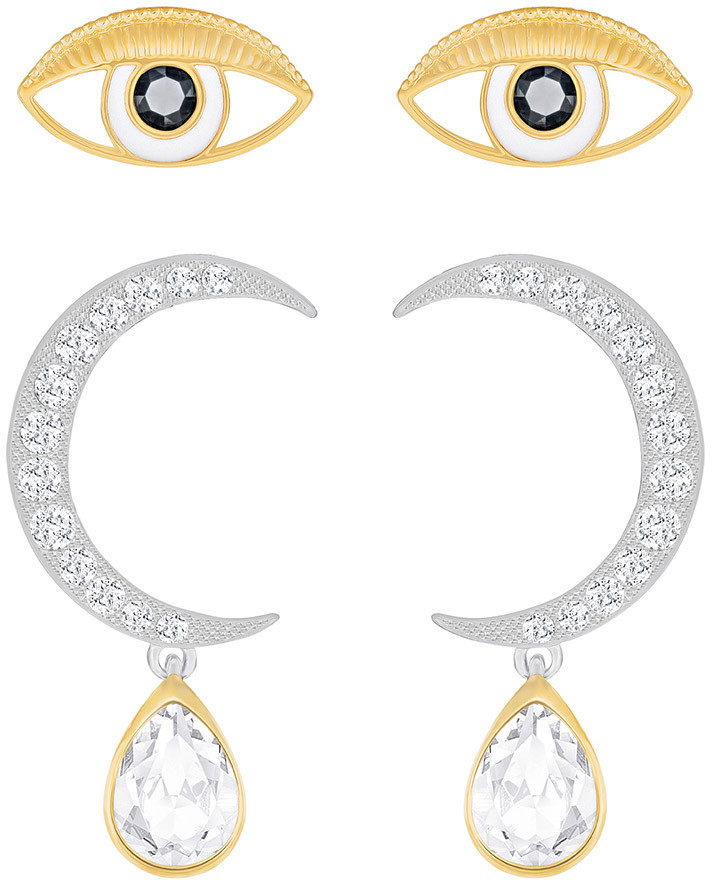Swarovski Gipsy Pierced Earring Set, White