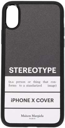 Stereotype print iPhone X cover