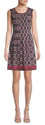 Max Studio Geometric-Print A-line Dress