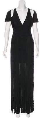 Herve Leger Geena Fringe Dress