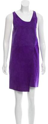 Yves Salomon Sleeveless Suede Wrap Dress w/ Tags