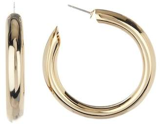 A.V. Max Large Bella Tube 43mm Hoop Earrings