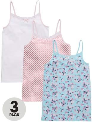 Very 3 Pack Ditsy Floral & Polka Dot Vests