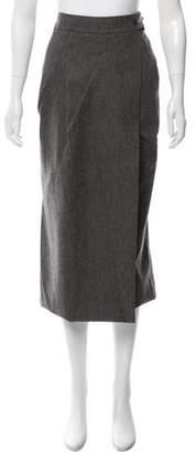 Pauw Wool-Blend Wrap Skirt