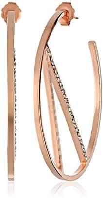 Paige Novick PHUN by Scarlett Collection with Pave Hoop Earrings