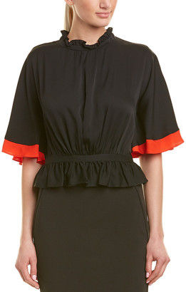 Milly Helena Silk-Blend Top