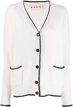 Marni contrast piping detailed cardigan
