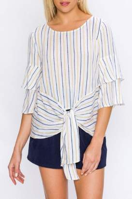 Flying Tomato Tiered Sleeve Blouse