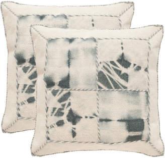 Safavieh Set Of 2 Dip-Dye Quartre Patch Pillows