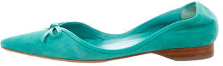 Delman Pointed-Toe Suede Flats $75 thestylecure.com