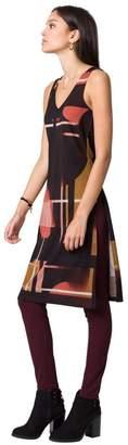 Le Château Women's Geo Print Knit Longline Slit Tunic,M