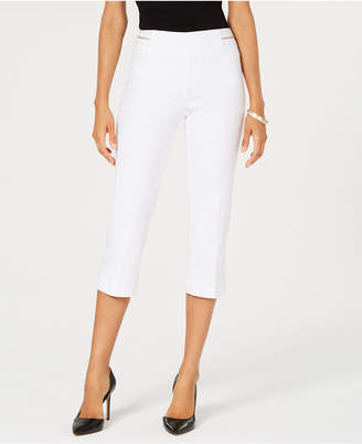 JM Collection Embellished Pull-On Cropped Pants