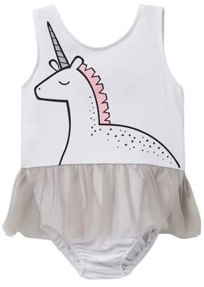 Paulinie Unicorn Tulle Bodysuit (Baby, Toddler, & Little Girls)