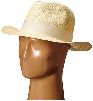 Hat Attack - Original Panama Fedora with Classic Bow Trim Fedora Hats $112 thestylecure.com