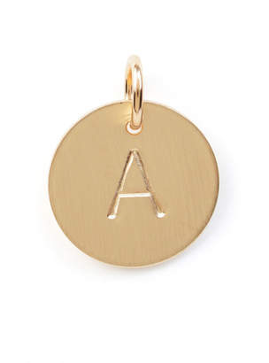 Nashelle A Initial Disc Necklace Charm