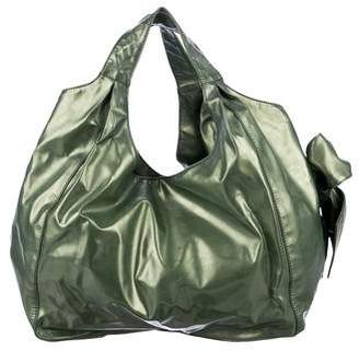 Valentino Metallic Nuage Bow Bag