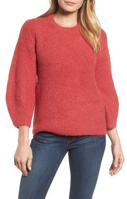 Velvet by Graham & Spencer Blouson Sleeve Boucl? Sweater