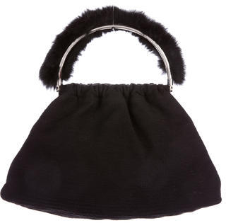 Moschino Moschino Fur-Trimmed Handle Bag