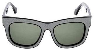 Balenciaga Crack Wayfarer Sunglasses