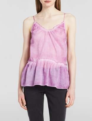 Calvin Klein v-neck sleeveless drop waist top