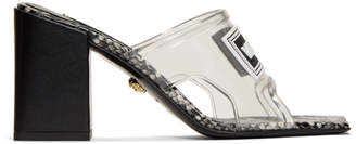 Versace Transparent PVC Heel Sandals