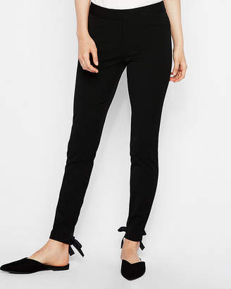 Express Mid Rise Lace-Up Stretch Ankle Leggings