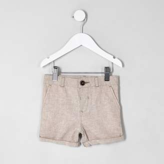 River Island Mini boys Beige Dylan short