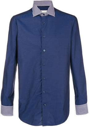 Etro striped collar shirt