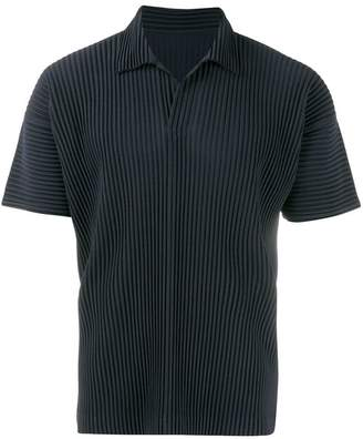 Issey Miyake Homme Plissé pleated polo shirt