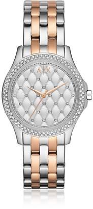 Armani Exchange Lady Hampton Two Tone Women's Watch