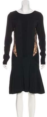 Elie Saab Knit Knee-Length Dress w/ Tags