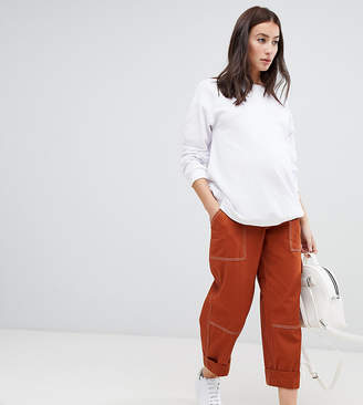 Asos DESIGN Maternity straight leg combat pants