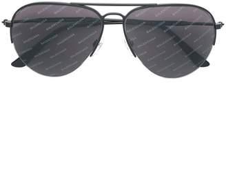 Balenciaga Eyewear aviator logo sunglasses