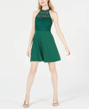 19 Cooper Lace-Neck Fit & Flare Dress