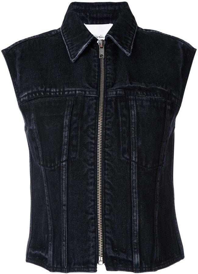3.1 Phillip Lim3.1 Phillip Lim denim zipped waistcoat