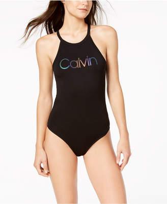 Calvin Klein Keyhole-Back Bodysuit