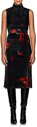 Altuzarra Women's Indira Tie-Dyed Velvet Belted Dress