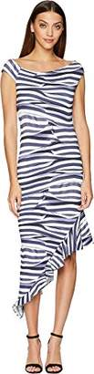 Nicole Miller Women's Heatwave Stripe Off Shoulder Dress