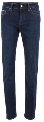 BOSS Slim-fit jeans in comfort-stretch indigo denim