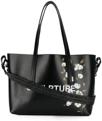 Off-White Sculpture cotton flower tote