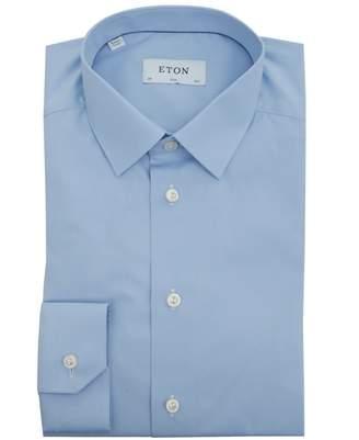 Eton Sateen Poplin Small Collared Shirt