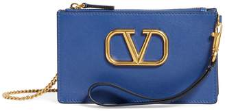 Valentino Leather VRING Pouch